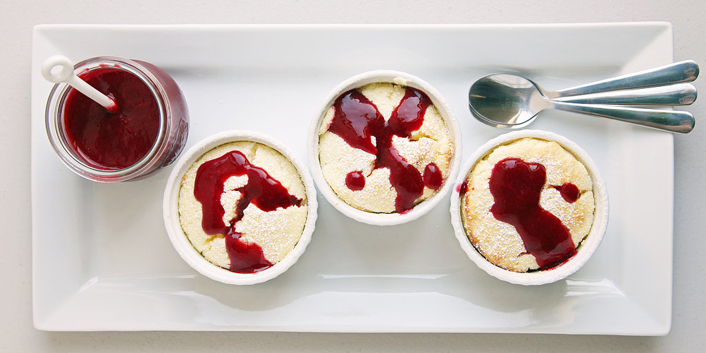 Lovely, Lofty Lemon Soufflés With Raspberry Coulis