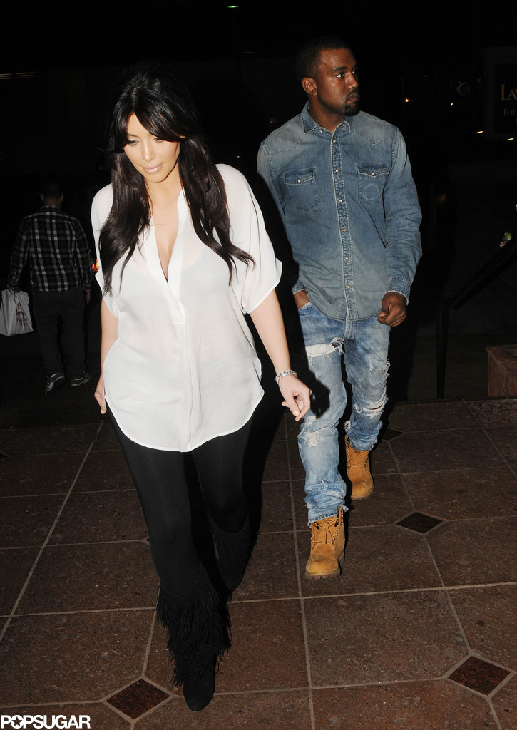 Kim and Kanye Have a Valentine's Date For Three
