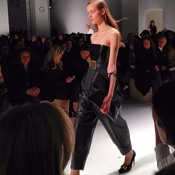 Calvin Klein was as minimalist-cool as ever.