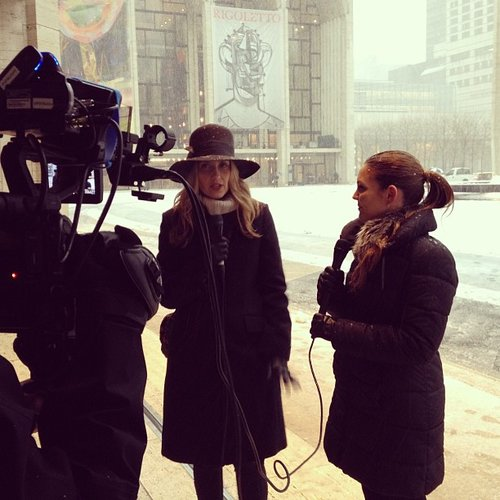 What blizzard? Our fashion director, Melissa Leibling-Goldberg, and our fashion reporter, Allison McNamara, braved the elements for a daily-recap video.