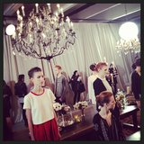More NYFW chandeliers.
