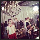More NYFW chandeliers.