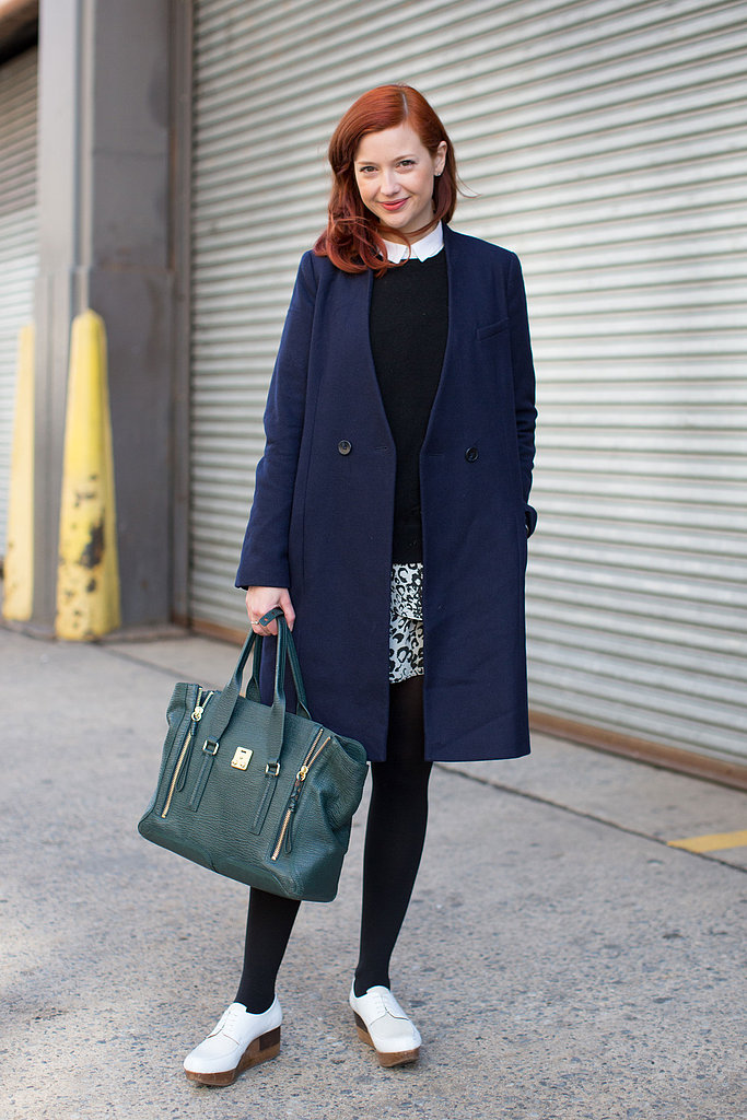 Our fashion news editor, Christina Perez headed to Milk in a ladylike-meets-minimalist look.