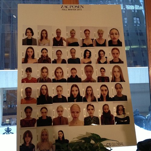 Zac Posen face board.