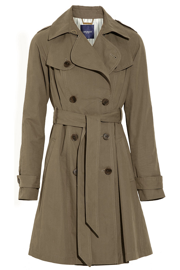 This Gryphon pleated cotton trench coat ($96, originally $495) will easily transition to warmer Spring weather.