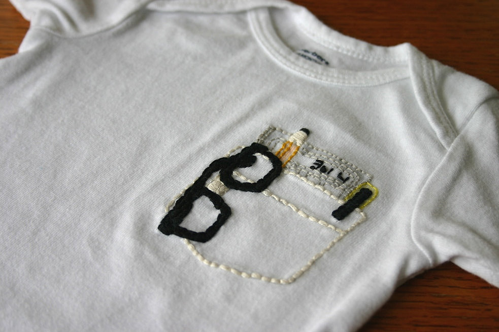 SemiAffection Pocket Protector Onesie