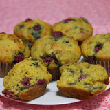 Low-Sugar, High-Protein Lemon Raspberry Muffins