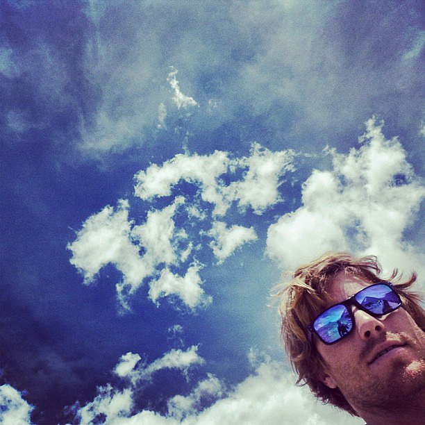 Hayden Quinn snapped the pretty clouds in the sky. Source: Instagram user hayden_quinn