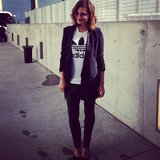 Phoebe Tonkin rocked an Adidas tee to the launch of Adidas Energy Boost shoes. Source: Instagram user phoebejtonkin