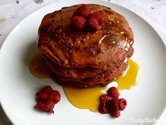 Raspberry & White Chocolate Pancakes