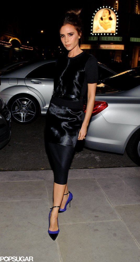 Victoria Beckham Pops Up For a Prize Night in London