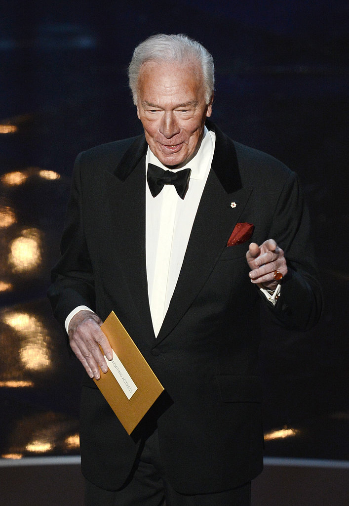 Christopher Plummer presented the award for best supporting actress at the Oscars.