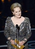 Meryl Streep presented at the 2013 Oscars.