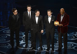 The men from The Avengers took the stage at the Oscars.