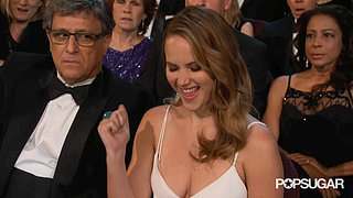 Jennifer Lawrence Yeah Face Oscars GIF