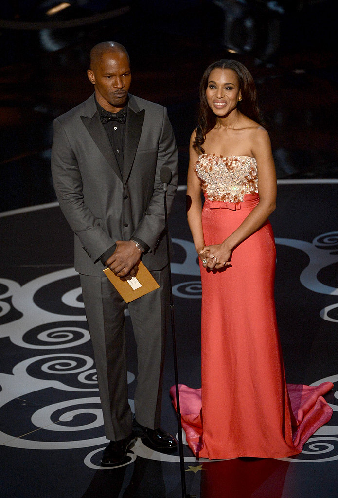 Kerry Washington and Jamie Foxx took the stage at the 2013 Oscars.