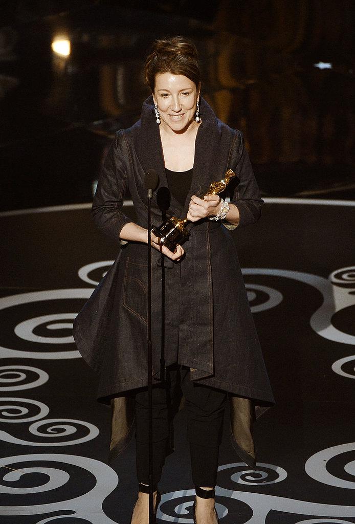 Jacqueline Durran won best achievement in costume design for Anna Karenina.