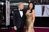 Catherine Zeta-Jones and Michael Douglas on the red carpet at the Oscars 2013.