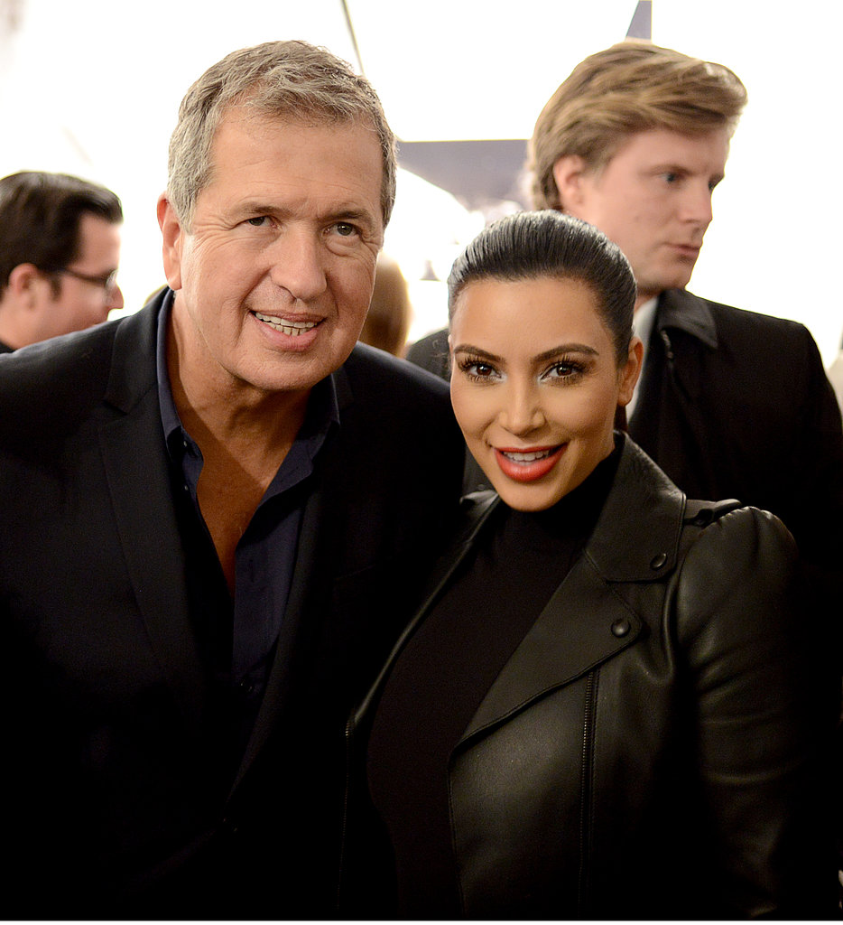 Mario Testino and Kim Kardashian celebrated his new exhibit.