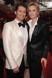 Jane Lynch and Matthew Morrison chatted it up at Elton John's Oscar party.
