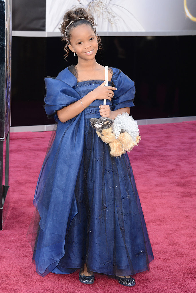 Quvenzhane Wallis  on the red carpet at the Oscars 2013.