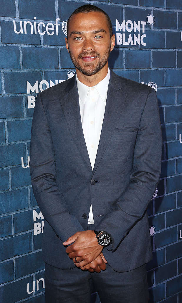 Jesse Williams posed on the red carpet.