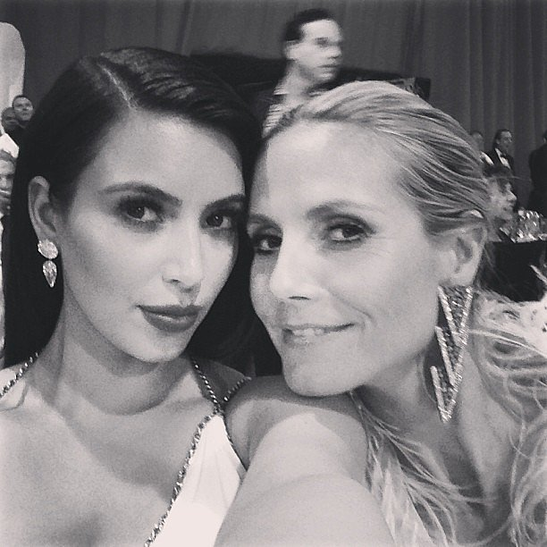Kim Kardashian and Heidi Klum snapped a photo at an after party. Source: Instagram user kimkardashian