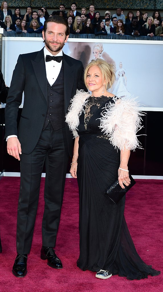 Bradley Cooper brought his mom, Gloria, to the 2013 Oscars on Sunday in LA.
