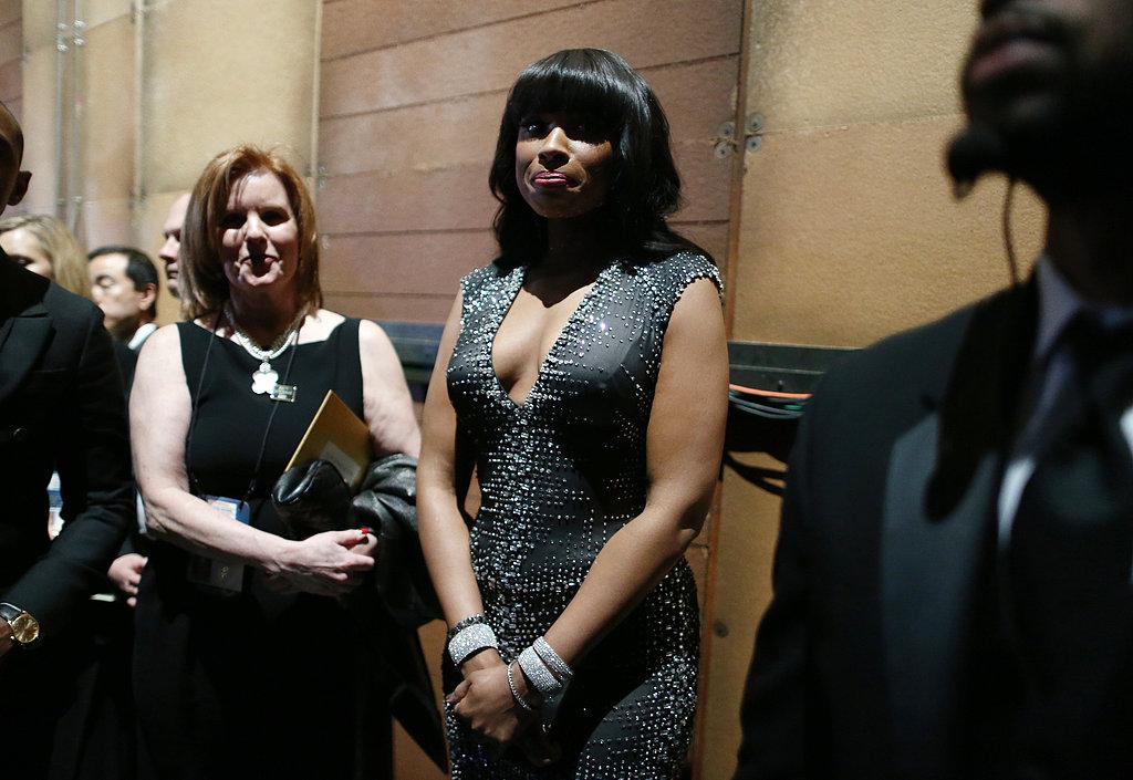 Jennifer Hudson backstage at the 2013 Oscars.