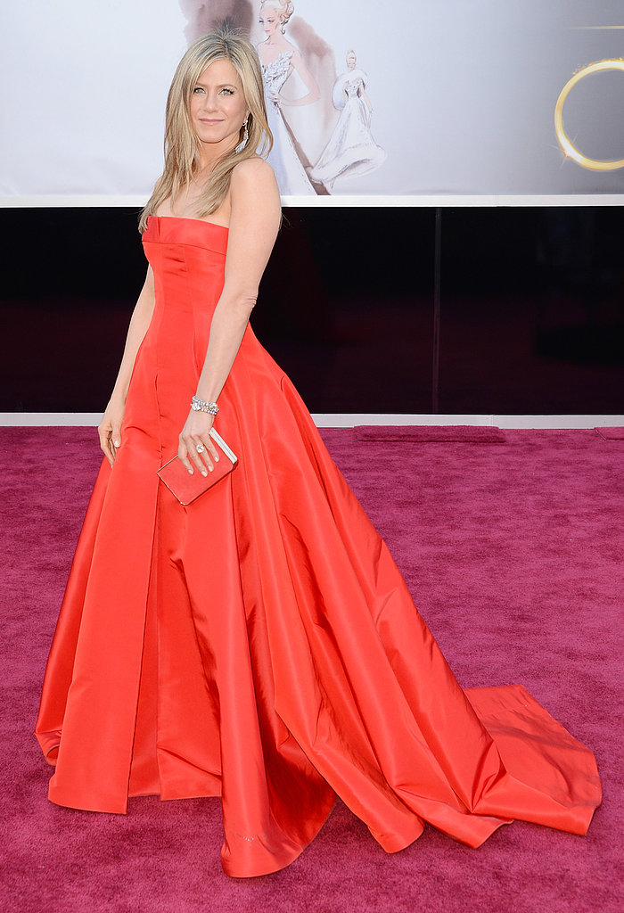 Jennifer Aniston Wears Valentino For an Oscars Date Night With Justin
