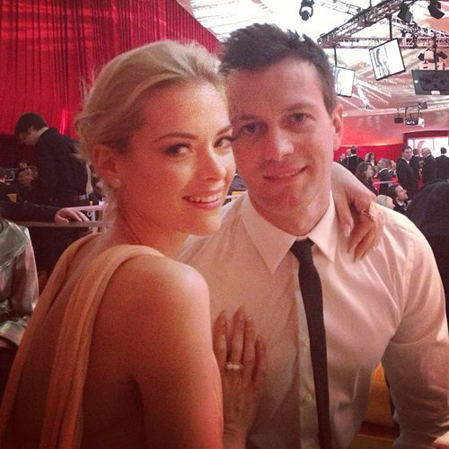 Jaime King posed with husband Kyle Newman at the Oscars. Source: Instagram user jaime_king