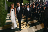 Natalie Portman and husband Benjamin Millepied attended the Vanity Fair Oscars bash.