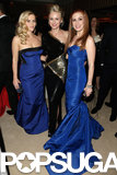 Naomi Watts was sandwiched between blue-dress beauties Reese Witherspoon and Isla Fisher at the Vanity Fair Oscar party.