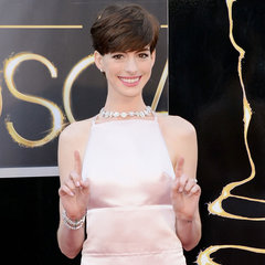 Anne Hathaway in Prada Pictures at 2013 Oscars