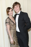 Emma Roberts posed with Evan Peters.