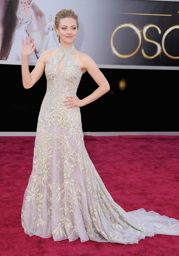 Amanda Seyfried on the red carpet at the Oscars 2013.