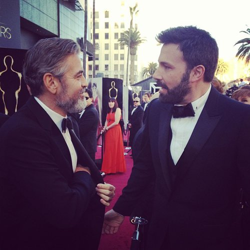 George Clooney and Ben Affleck shared a moment on the red carpet. Source: Instagram user theacademy