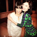 Trina Turk hung out with Jessica Paré during a pre-Oscars bash on Saturday. Source: Instagram user trinaturk