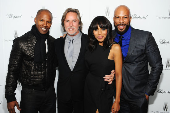 Jamie Foxx, Don Johnson, Common, and Kerry Washington attended a Weinstein Company party.