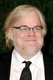 Philip Seymour Hoffman arrived at the Vanity Fair Oscar party on Sunday night.