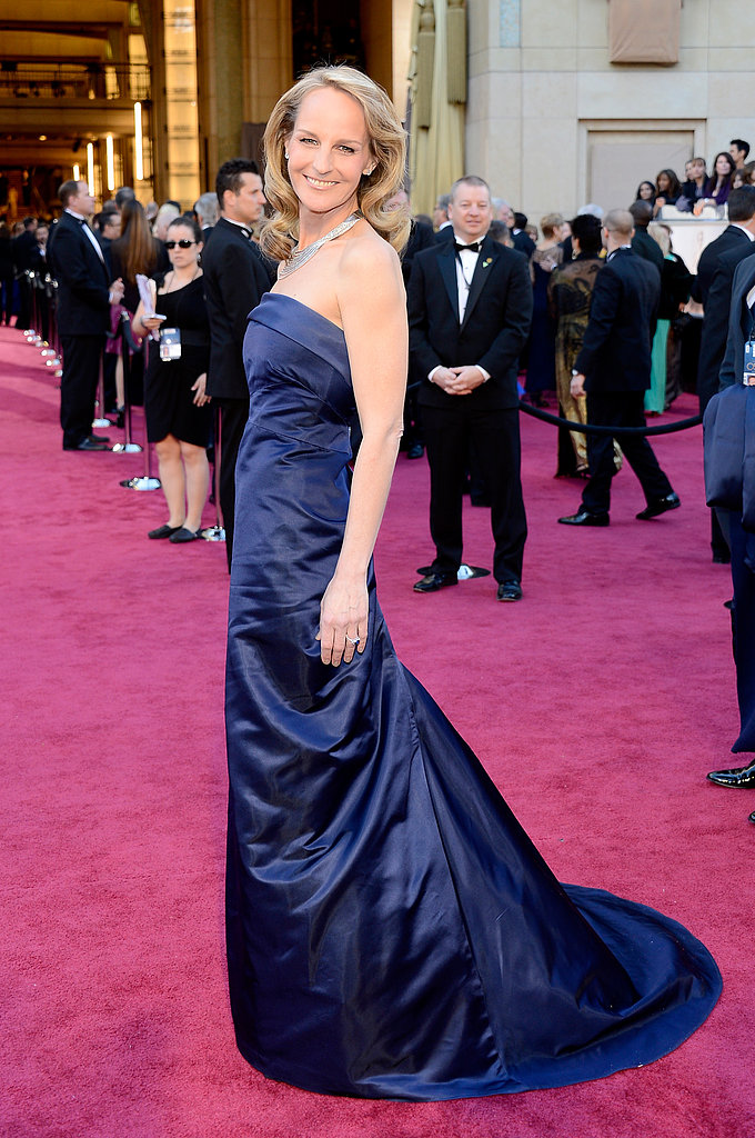 Helen Hunt on the red carpet at the Oscars 2013
