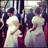 Octavia Spencer arrived in white Tadashi Shoji. Source: Instagram user theacademy