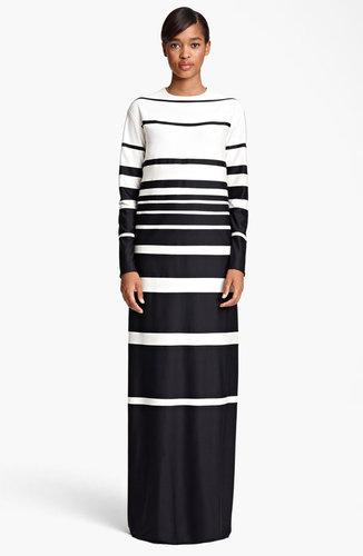 MARC JACOBS Stripe Silk Jersey Gown