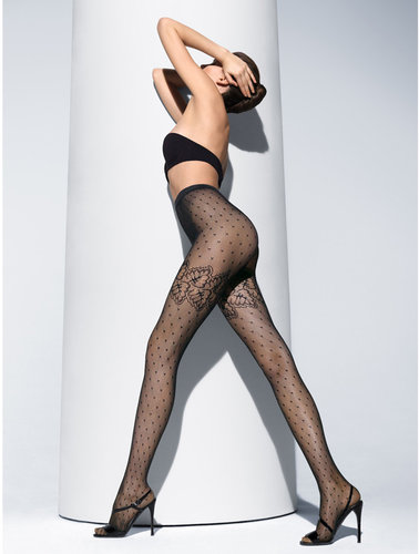 Wolford Black spring leaf tights