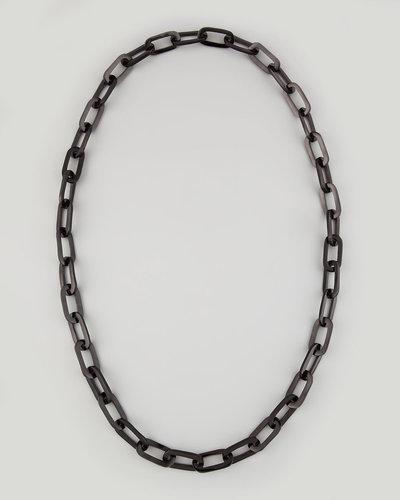 Nest Black Chain Necklace