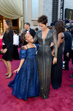 Quvenzhané Wallis and Halle Berry enjoyed themselves before the show.