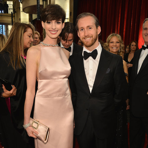 Anne Hathaway and Adam Shulman at the Oscars 2013