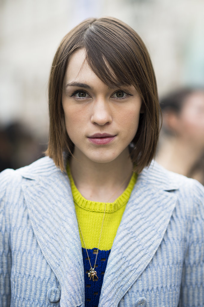 A lob looked even lovelier with wispy bangs à la Ella Catliff. Source: Le 21ème | Adam Katz Sinding