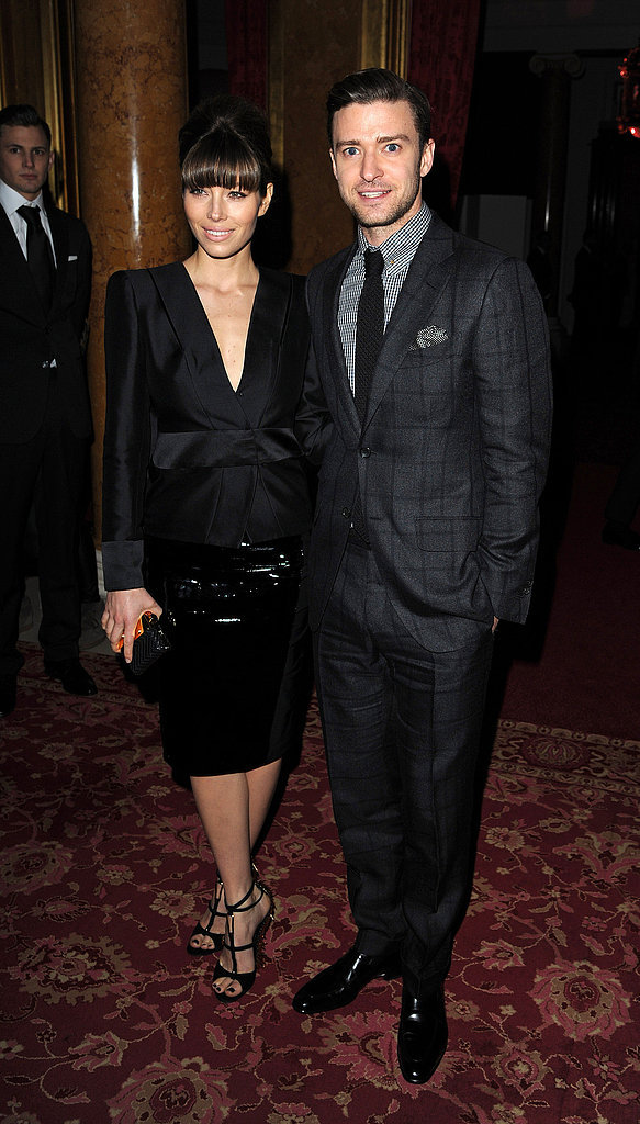 Justin Timberlake and Jessica Biel Take in the Tom Ford Show at LFW