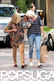 Charlize Theron shopped around LA with her son Jackson and mom Gerda.